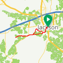 Map image of a Route from April 13, 2016