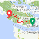 Map image of a Route from April 15, 2016