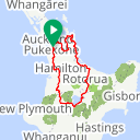 Map image of a Route from April 18, 2016