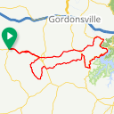 Map image of a Route from June 15, 2012