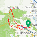 Map image of a Route from April 20, 2016