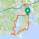 Map image of a Route from April 22, 2016