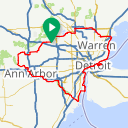 Map image of a Route from April 24, 2016