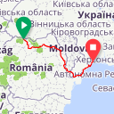 Map image of a Route from April 25, 2016