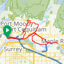Map image of a Route from April 27, 2016