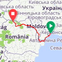 Map image of a Route from April 29, 2016
