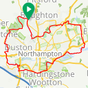 Map image of a Route from May  3, 2016