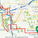 Map image of a Route from May  7, 2016
