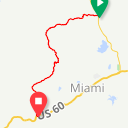 Map image of a Route from May  8, 2016