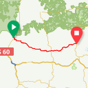 Map image of a Route from May 18, 2016