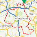 Map image of a Route from May 22, 2016