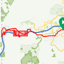 Map image of a Route from May 25, 2016