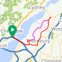 Map image of a Route from May 26, 2016