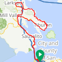 Map image of a Route from July  9, 2012