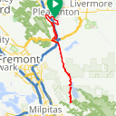 Map image of a Route from June  1, 2016