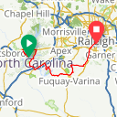 Map image of a Route from June  3, 2016