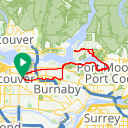 Map image of a Route from June  5, 2016