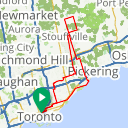 Map image of a Route from June 13, 2016