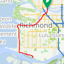 Map image of a Route from June 21, 2016