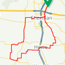 Map image of a Route from July  1, 2016