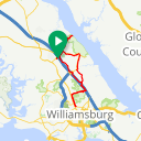 Map image of a Route from July  5, 2016