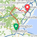 Map image of a Route from July  7, 2016