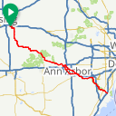 Map image of a Route from July  8, 2016