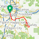 Map image of a Route from July 14, 2016