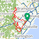 Map image of a Route from July 21, 2016
