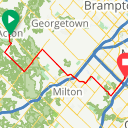 Map image of a Route from July 22, 2016