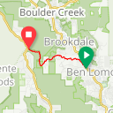 Map image of a Route from July 25, 2016