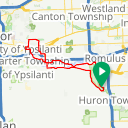 Map image of a Route from July 26, 2016