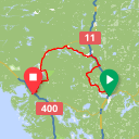 Map image of a Route from July 27, 2016