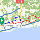Map image of a Route from July 29, 2016