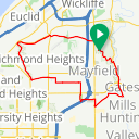 Map image of a Route from August  2, 2016