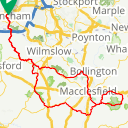 Map image of a Route from August  5, 2016