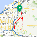 Map image of a Route from August  7, 2016