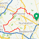 Map image of a Route from August  9, 2016