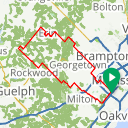Map image of a Route from August 13, 2016