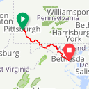 Map image of a Route from August 22, 2016
