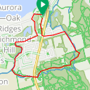 Map image of a Route from August 25, 2016