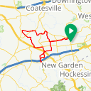 Map image of a Route from August 27, 2016