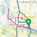 Map image of a Route from August 22, 2012