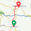 Map image of a Route from September  6, 2016
