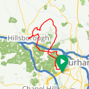 Map image of a Route from September  7, 2016