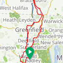 Map image of a Route from September  9, 2016