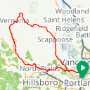 Map image of a Route from September 15, 2016