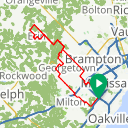 Map image of a Route from September 17, 2016
