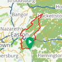 Map image of a Route from September 22, 2016