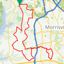 Map image of a Route from September 29, 2016